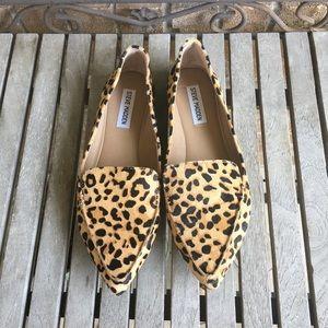 Steve Madden Shoes - Steve Madden Feather Leopard Print Calf Hair Flats